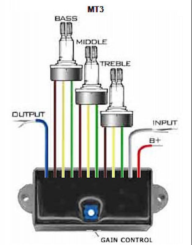 Artec Mt3 Multi Purpose 3 Band Equalizer Eq Guitar Electronics Control