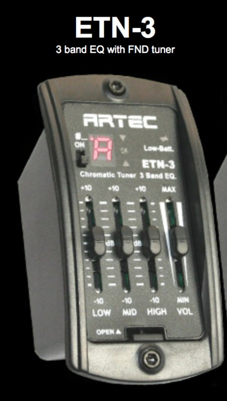 Artec ETN-MG Preamp with PP607 piezo Magnetic pickup and standard jack kit